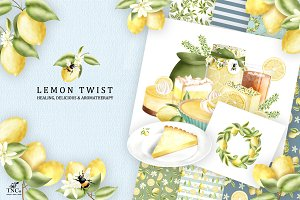 Lemon Twist - Graphics & Patterns