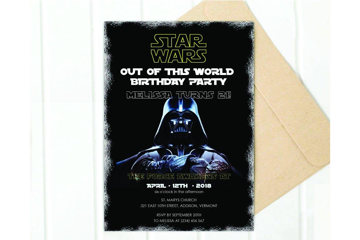 Save STAR WARS Birthday Invitation