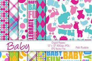Baby Themed Digital Paper/Background