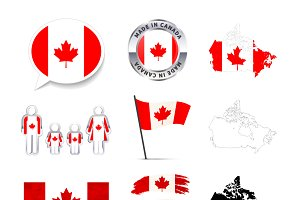 Set of Canada infographics elements