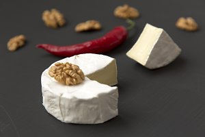 Camembert cheese and chili pepper