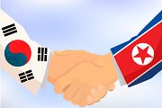 North and South Korea handshake