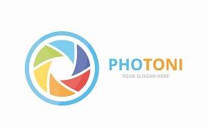 Vector camera shutter logo