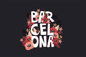 Barcelona Floral Graphic