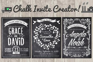 Chalk Invite Creator Bundle 60% off