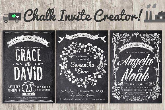chalk invite creator bundle 60 off invitation templates