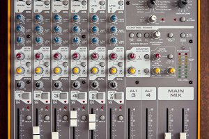 Audio studio sound mixer equalizer