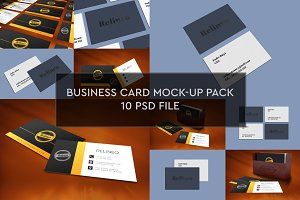 Business Card Mock-ups 10 PSD Pack#1