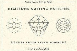 Gemstone cutting pattern volume 01