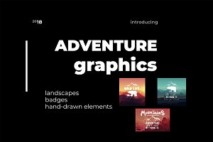Graphic vector set of adventure