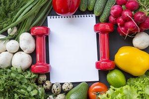 Healthy food concept. Healthy food