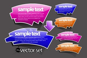 Set of abstract color vector banners