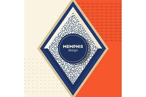memphis desighn poster orange