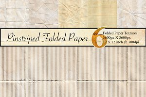 6 Pinstriped Paper Textures