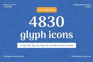 4830 Glyph Icons