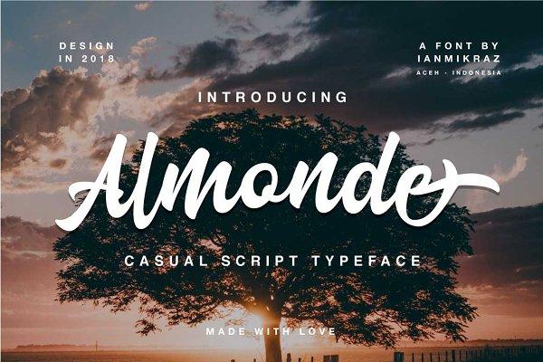 Fonts: ianmikraz - Almonde Script