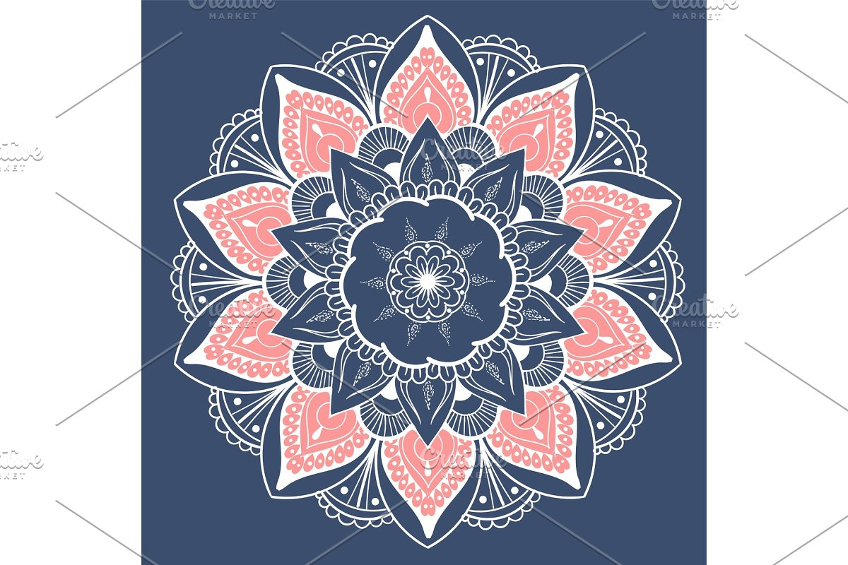 Mandala Vector Design Element Round Ornament Decoration Colorful