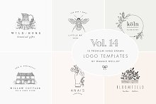 Feminine Premade Logo Bundle Vol. 14 by  in Logos