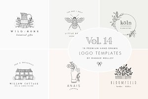 Feminine Premade Logo Bundle Vol. 14