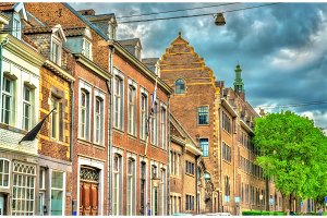 Buildings in the old town of Maastricht, the Netherlands