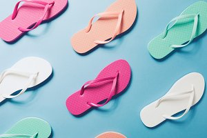 Vacation pattern with flip flops