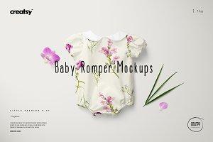 Baby Romper Mockup Set 3