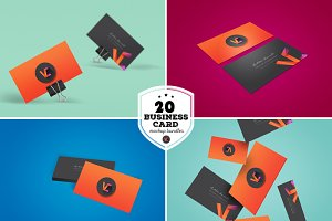 20 Business Card Mockup Bundle
