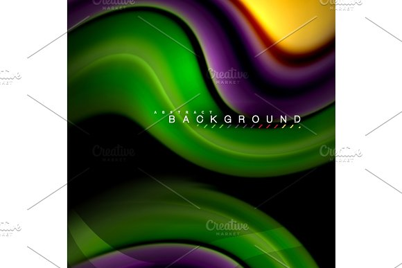 Fluid mixing colors vector wave abstract background design. Colorful mesh waves