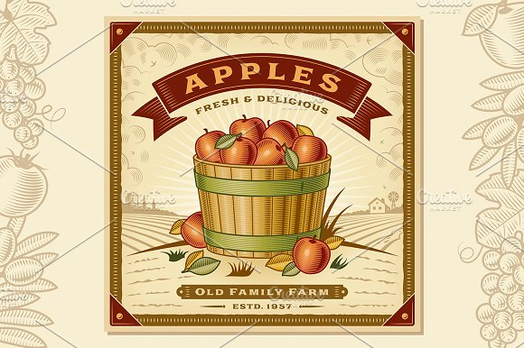 Apple Harvest Label