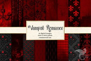 Vampire Digital Scrapbook Paper