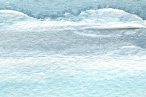 Abstract blue watercolor brush strok