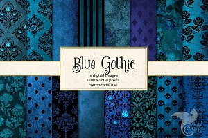 Blue Gothic Digital Paper