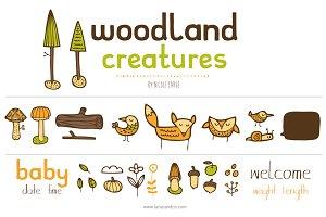 Woodland Creatures (Vector)