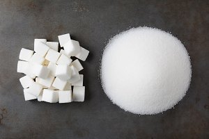 Sugar Cubes and Granulated