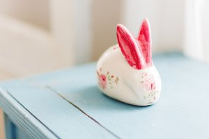 Decorative porcelain rabbit