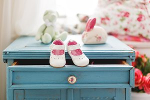 Cute leather booties for little girl