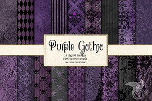 Purple Gothic Digital Paper