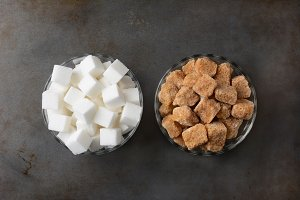 Bowls of Sugar Cubes