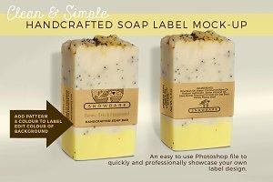 Soap Label:2 Vertical Mock-up Strips