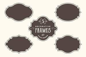 Vintage Frames & Badges Set 2