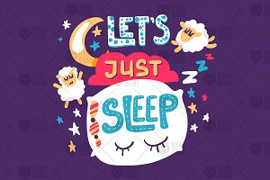 Fun Print - Let's Just Sleep