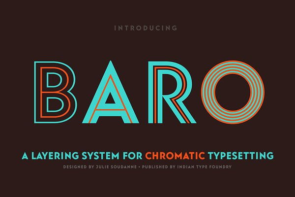 Display Fonts: Indian Type Foundry - Baro — 75% Off