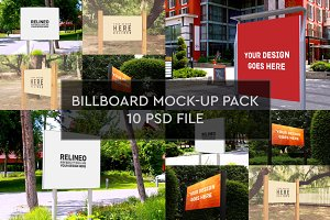 Billboard Mock-up 10 PSD Pack #2