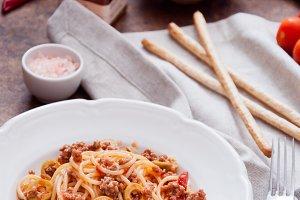 Homemade Pasta spaghetti