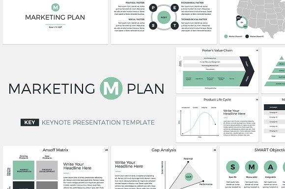 5 in 1 marketing keynote bundle presentation templates creative