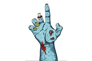 Zombie Hand Illustration
