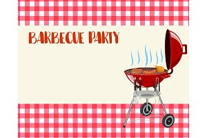 Barbecue party blank invitation.
