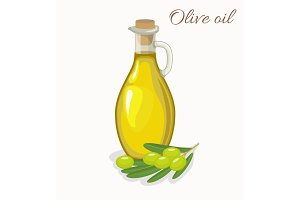 glass bottle jug of olive oil