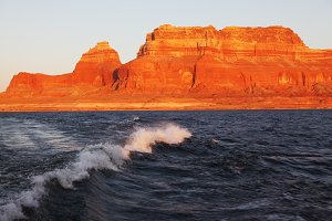 Boat on Lake Powell