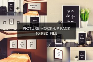Picture Mock-up 10 PSD Pack #1